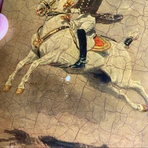 Vintage Wall Art - Alexander Poch 1947 Small Horse Riding Crackle Art
